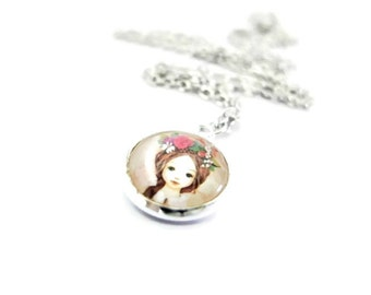 Silver Delicate Necklace/ Necklace For Girl/ Toddler Jewelry/ Children Accessories/ Children Gift/ Baby Girl Jewelry