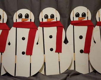 Personalized Wooden Snowman