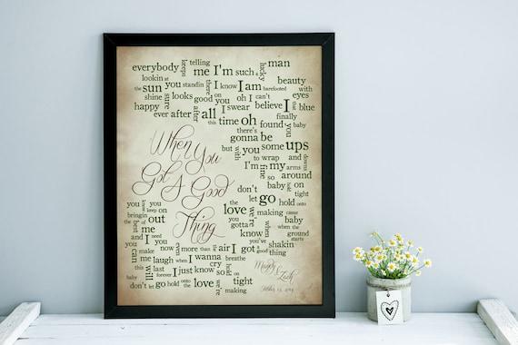 1st anniversary wedding song lyrics wedding song print like this item stopboris Image collections