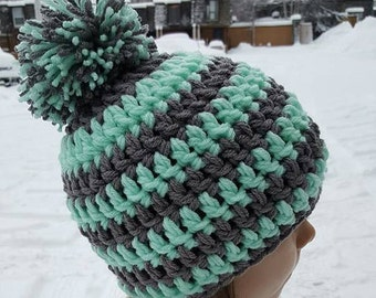 Thick Beanie with pom pom