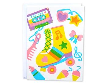 For you Screenprinted card