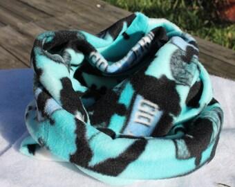 Team spirit fleece infinity scarf