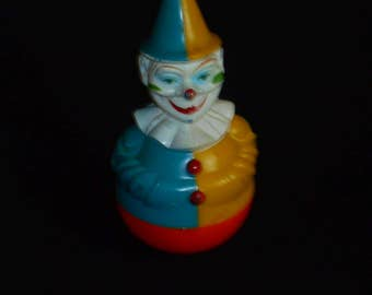 Vintage Rolly Toys Rolly-Polly Clown, West Germany, 1950s