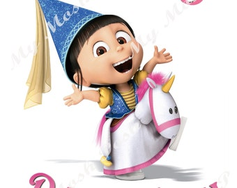 Despicable Me Agnes Birthday Girl Iron On Transfer Digital file