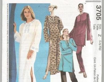 UNCUT 3705 McCalls Sewing Pattern Caftan Tunic Pants Size Lg XL 38B 40B 42B 44B Factory Folded