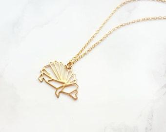 Origami Hedgehog Necklace, Geometric Hedgehog, Hedgehog Necklace, Origami Necklace, Gold/Silver Hedgehog, Animal Necklace, Animal lover gift