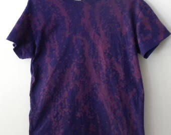 Tie Dye purple Tee Shirt, Pink, Acid wash Tee shirt, Grunge, graphic, Splatter paint shirt, retro, hipster, rocker, top
