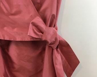 Vintage Pink Silk Wrap Dress