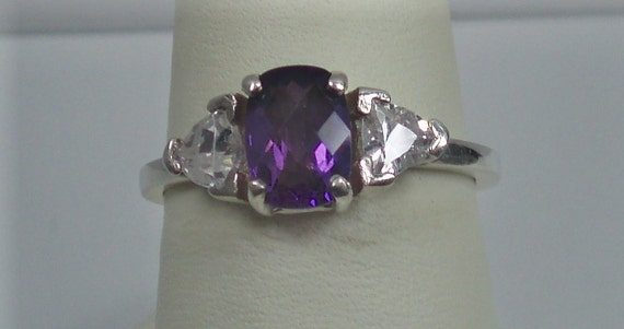 Top Quality Amethyst and Sterling Ring