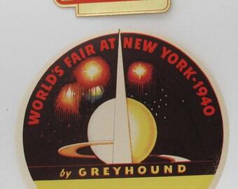 Worlds Fair New York Worlds Fair Luggage Stickers 1940 Worlds Fair Souvenir Stamps