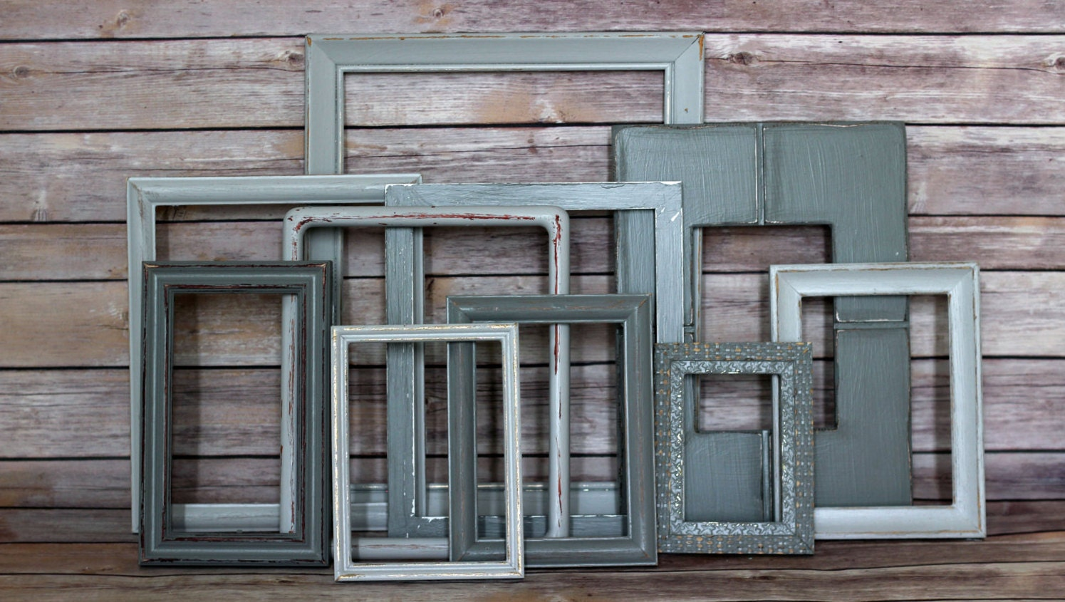grey picture frames wall decorating rustic picture frame. Black Bedroom Furniture Sets. Home Design Ideas