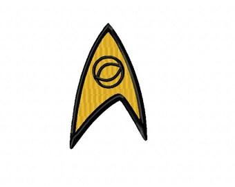 Star Trek SCIENCE Logo ~ Machine Embroidery Design in 2 sizes - Instant Download