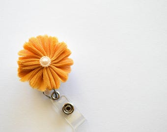 Yellow Flower Badge Reel