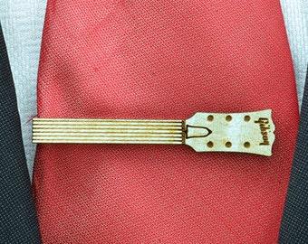Guitar neck Tie Clip  - Maple wood tie bar