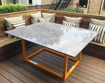 Custom Outdoor Dining Table / Custom Granite Table / Outside Table / Patio  Furniture
