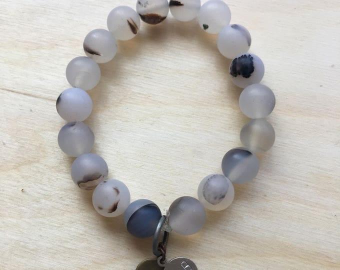 Montana Agate Stacking Bracelet / Montana Agate / Stacking Bracelet / Beaded Bracelet