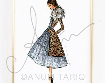 Fashion Illustration Print, J. Mendel