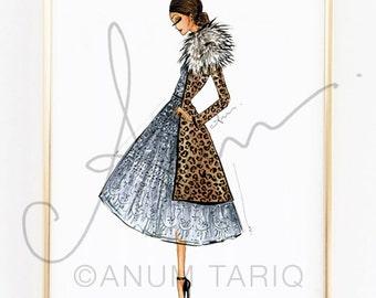 Fashion Illustration Print, J. Mendel