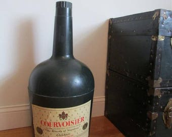 Vintage Ice Bucket, Courvoisier Display, Vintage Cooler, Advertising Cooler, Cognac, Unique Barware Gift, Man Cave Gift, Rare Cooler