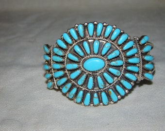 2A Sterling & Turquoise Bracelet