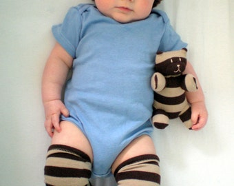 Baby Leg Warmers for Boy or Girl with Matching Sock Bear
