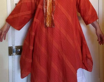 Dress-tunic T 42 to 48 deconstructed dark orange