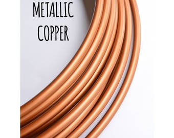 NEW 3/4 Metallic Copper Polypro Hoops ~ Bronze, Copper, Brown, Metallic 3/4 Polypro Hoops, FestivalTreasures, Fast Shipping