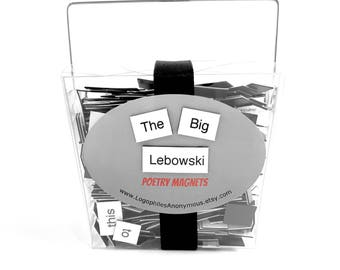 The Big Lebowski Poetry Magnet Set - Refrigerator Poetry Word Magnets - Free Gift Wrap
