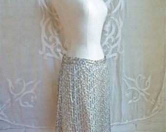 Silk Floral Mini Skirt