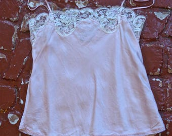 Pale Pink Silk Lace Camisole
