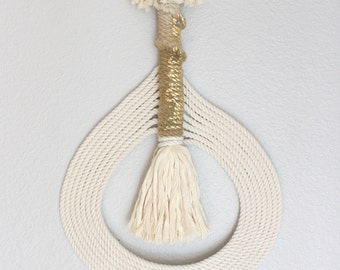 """Macrame Wall Hanging """"Yukari no.15"""" by HIMO ART, One of a kind Handcrafted Macrame/Rope art"""