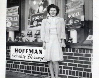 Vintage Photo..Model, 1940's Original Found Photo, Vernacular Photography