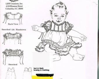Toddler Size 3 Renaissance Dress Slip & Bonnet - Smocking Pattern - Handsewing Pattern - Heirloom Sewing - Toddler Dress - LHW Creations