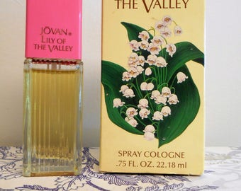 vintage Jovan Lily of the Valley 0.75 fl. oz. / 22.18 ml cologne spray with box.