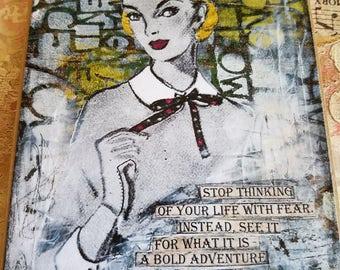 Very Brave Woman Art Card