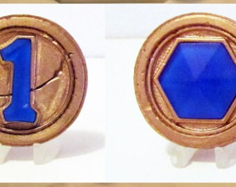 HearthStone - The One Coin / 1 Mana Coin with Display Stand - Custom Very Nice