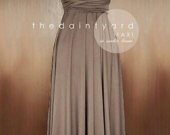 SALE - Petite Maxi infinity dress in Umber brown
