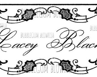 Gorgeous Black  vintage lace New Large Etsy Banner/header