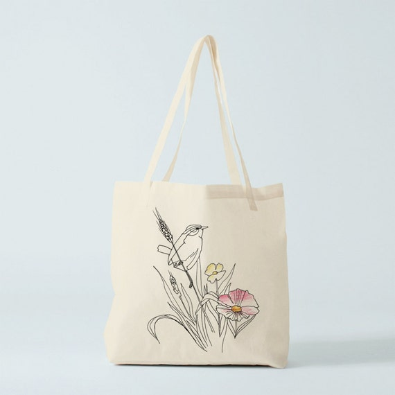 Tote Bag, Bird Country, canvas bag, cotton tote, shopper, groceries bag, organic tote, gift for women, novelty gift, gift for sister.