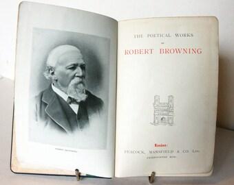 Poems of R. Browning 1910s Poetical Vintage hardback Book Vintage, gift, collectables, Poet UK