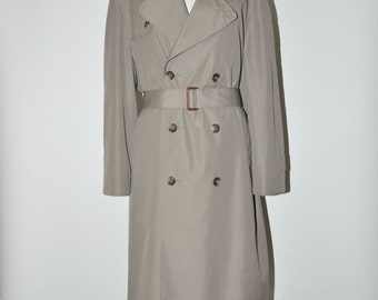 30% OFF 80s classic trench coat / vintage gray belted trenchcoat / 1980s Christian Dior coat