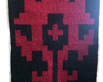 World of Warcraft HORDE 8 bit quilt