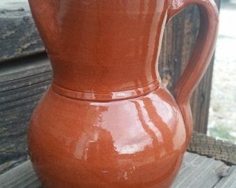 Stoneware Pottery Redware Pitcher