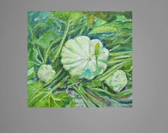 Picture Art Original Oil Painting Vegetable Squash