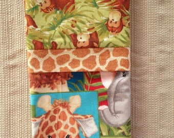 "Travel/Toddler Pillowcase - ""Jungle Animals"""