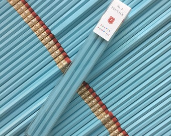 Pastel Blue Pencils, set of 9, Back to School Supplies, Gifts for him, Gifts for her, Preppy School Supplies