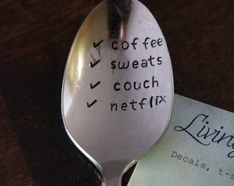 Coffee Spoon//Personalized Spoon//Hand Stamped