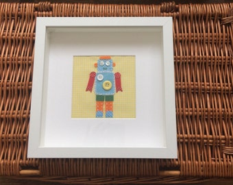Personalised robot appliqué picture