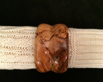Beautiful Wood Cuff Bangle Bracelet ~ One-of-a-Kind, Hand Turned Wooden Jewelry ~ Made in Oregon ~ Great gift for her