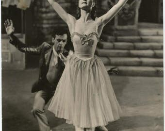 """1970s Moira Shearer in """"The Red Shoes"""" (1948) Gelatin Silver Glossy Archival Photo / Hollywood Vamp Pin Up Actress Star Legend Ballet Photo"""